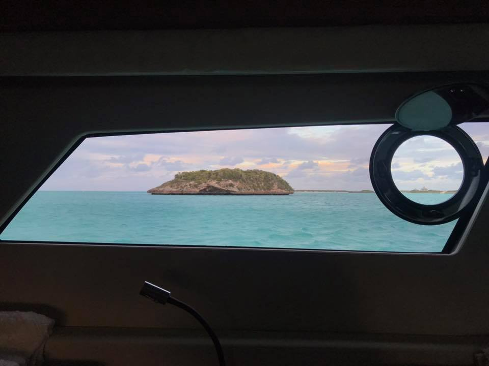 View from master - Emerald Rock - Warderick Wells