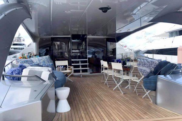 Adastra - aft deck facing forward