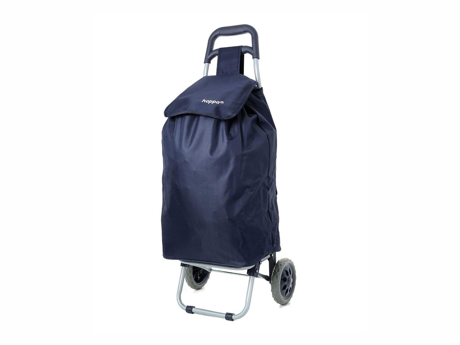Example of a foldable shopping trolley