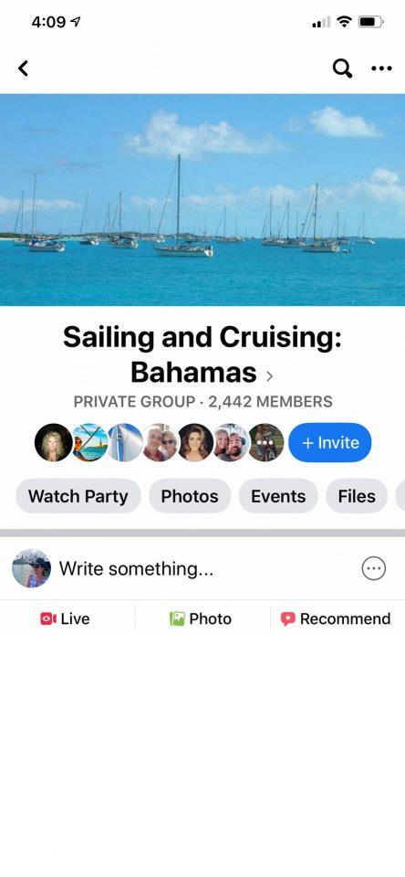 Facebook Group - Sailing and Cruising Bahamas