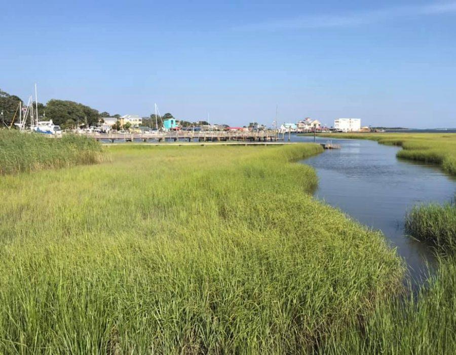 Waterfront restaurants view across the water