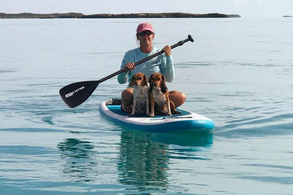 Cagney and Lacey - paddle board - Compass Cay