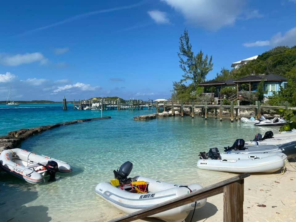 Staniel Cay dinghy dock