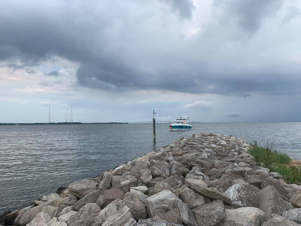 Coming into the marina in Annapolis